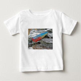 Vintage Lure Blue Streak Tackle Co Waltham MA Baby T-Shirt
