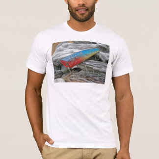Vintage Lure Blue Streak Tackle Co Waltham MA T-Shirt