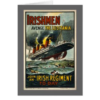 Vintage Lusitania Poster  (Irish Recruiting) Greeting Card
