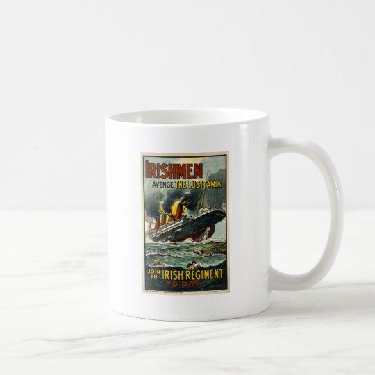 Vintage Lusitania Poster  (Irish Recruiting) Coffee Mug