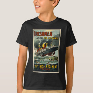 Vintage Lusitania Poster (Irish Recruiting) Ship T-Shirt