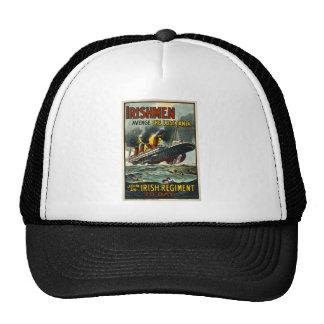 Vintage Lusitania Poster  (Irish Recruiting) Trucker Hat