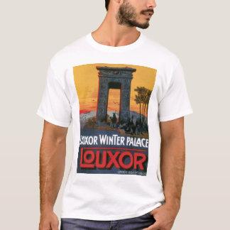 Vintage Luxor Egypt hotel advert, ancient temple T-Shirt