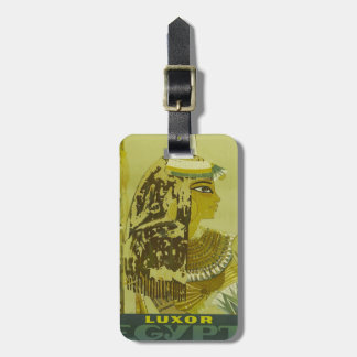 Vintage Luxor Egypt Travel Poster Luggage Tag