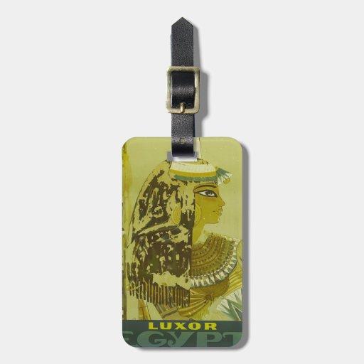 Vintage Luxor Egypt Travel Poster Luggage Tag