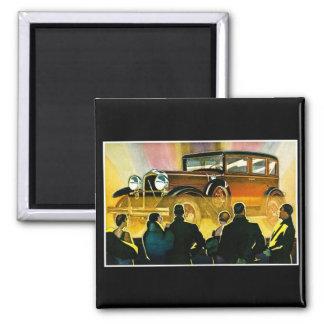 Vintage Luxury Car Advertisement 2 Inch Square Magnet