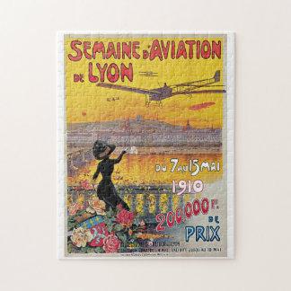 Vintage Lyon Aviation Week Travel Ad Puzzle