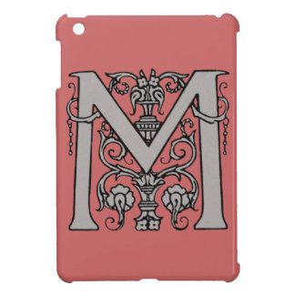 Vintage M Initial Cap Case Cover For The iPad Mini