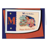 Vintage M is for Mother Greeting Cards