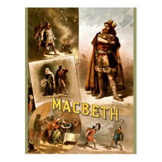 Vintage - Macbeth de Shakespeare, 1884 Tarjetas Postales