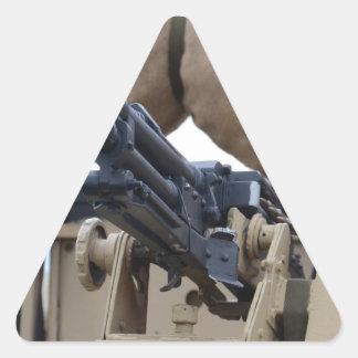 Vintage Machine Gun And Armor Triangle Stickers