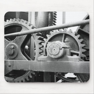 Vintage machinery mouse pad
