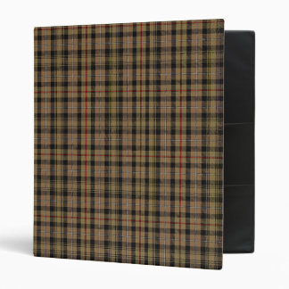 Vintage MacKenzie Hunting Tartan Plaid Pattern Binder