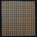 "Vintage MacKenzie Hunting Tartan Plaid Pattern Cloth Napkin<br><div class=""desc"">The MacKenzie family Hunting Brown tartan plaid textile pattern in camel,  black,  white and red.</div>"