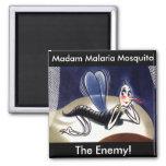 Vintage Madam Malaria Mosquito Refrigerator Magnets