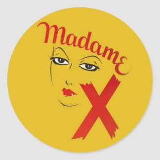 Vintage Madame X Movie Film Bold Graphic Woman Classic Round Sticker