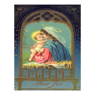 Vintage Madonna and Child Christmas Personalized Letterhead