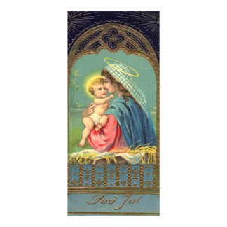 Vintage Madonna and Child Christmas Personalized Rack Card