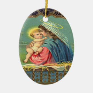 Vintage Madonna and Child Ornament