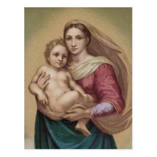 Vintage Madonna And Child Postcards