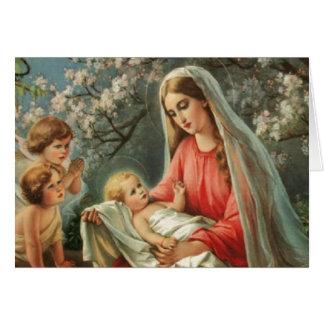 Vintage Madonna & Child Card