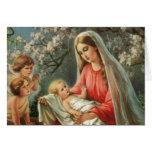 Vintage Madonna & Child Greeting Card