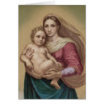 Vintage Madonna y niño Felicitacion