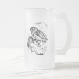 Vintage madriguera el ejemplo del pájaro del taza cristal mate