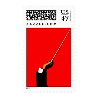 VINTAGE MAESTRO MASTER MUSIC CONDUCTOR WAND POSTAGE STAMP