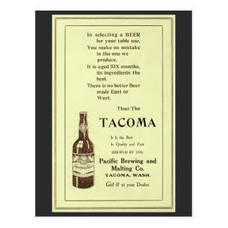 Vintage magazine ad Tacoma table beer Postcard