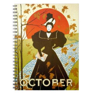 Vintage Magazine Cover 1895 Spiral Notebook