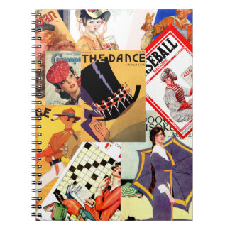 Vintage Magazine Montage Notebook