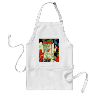 Vintage Magic Magician Demons and Devils Adult Apron