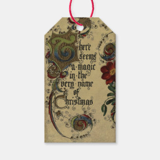 Vintage Magic of Christmas Gift Tag