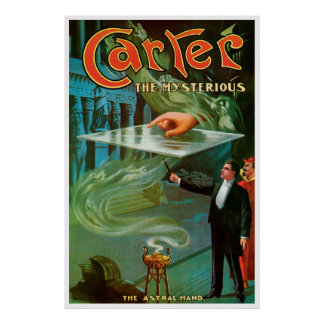 Vintage Magic Poster, Carter the Mysterious Poster