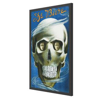 Vintage Magic Poster, De Biere the Mysterious Canvas Print