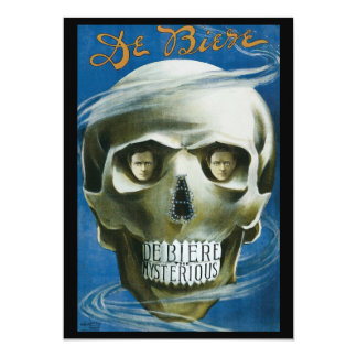 Vintage Magic Poster, De Biere the Mysterious Card