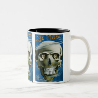 Vintage Magic Poster, De Biere the Mysterious Two-Tone Coffee Mug