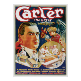 Vintage Magic Poster, Magician Carter the Great Poster