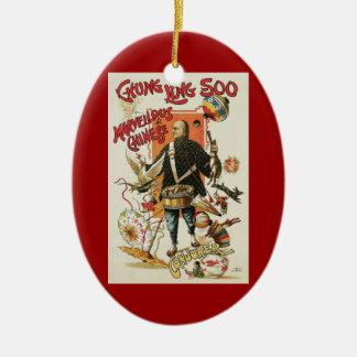 Vintage Magic Poster, Magician Chung Ling Soo Ceramic Ornament
