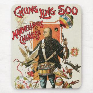 Vintage Magic Poster, Magician Chung Ling Soo Mouse Pad