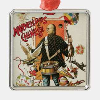 Vintage Magic Poster Magician Chung Ling Soo Ornaments