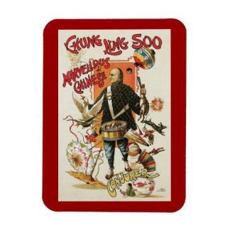 Vintage Magic Poster, Magician Chung Ling Soo Rectangular Photo Magnet