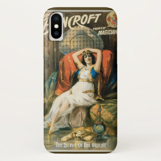 Vintage Magic Poster, Magician Frederick Bancroft iPhone X Case