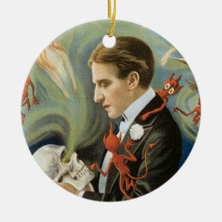 Vintage Magic Poster, Thurston, The Great Magician Ceramic Ornament