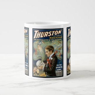 Vintage Magic Poster, Thurston, The Great Magician Large Coffee Mug