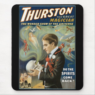 Vintage Magic Poster, Thurston, The Great Magician Mouse Pad