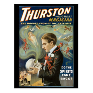 Vintage Magic Poster, Thurston, The Great Magician Postcard