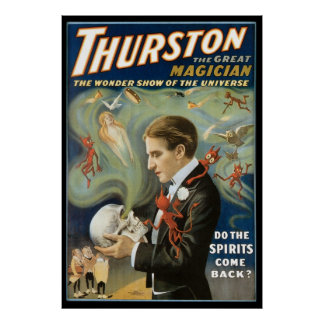 Vintage Magic Poster, Thurston, The Great Magician Poster