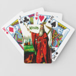 Vintage Magic Wizard Merlin Fate Litho Label Art Playing Cards